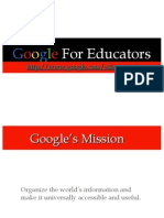 Google for Educators Presentation