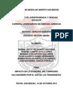 IMPACTO EN LA ECONOMIA  DEL CAMPESINO SALVADOREÑO POR EL USO DE LOS TRANGENICOS(1).docx..reformado