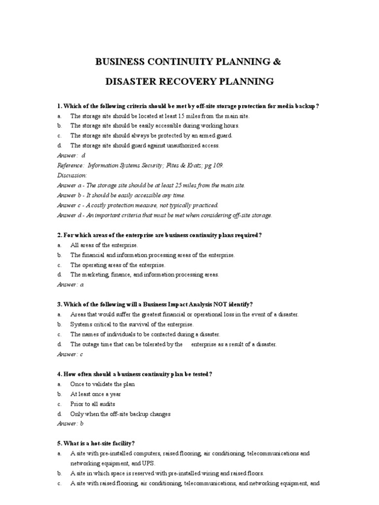 Continuity and contingency planning — blogger.com