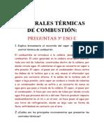 CENTRALES TÉRMICAS      DE COMBUSTIÓN
