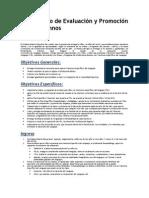 Reglamento de Evaluación y Promoción de los alumnos