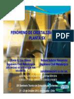 16 Fenomeno de Cristalizacion en Plantas SX