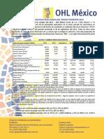 Informe trimestral de OHL México 2013