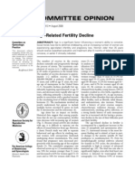 Age related fertility decline
