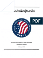 A Guide to Grant Oversight and Best Practices for Combating Grant Fraud