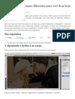 Photoshop - 5 Truques Diferentes Para Voce Ficar Bem Na Foto