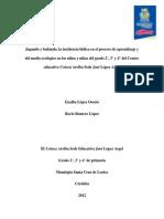 26189 - Proyecto 1 - Incidencia de la ludica en el proceso de aprendizaje del medio ecologico en los niños y niñlas del grado 2°, 3° y 4° del Centro educativo Cotocá Arriba Sede Jose Lopez Argel.docx
