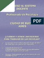 Inscripción sistema docente Ciudad Profesorado de Psicología.ppt