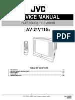 Manual servicio JVC AV-21VT15