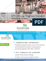 OPTI LTD · Leg, Thigh and Drumstick Deboning System
