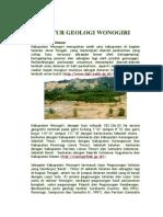STRUKTUR GEOLOGI WONOGIRI