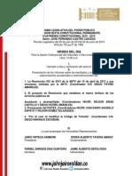 Agenda Legislativa Comision Sexta Nov 13