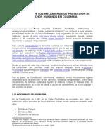 Efectividad de Los Mecanismos de Proteccion de Derechos Humanos en Colombia - Mauricio