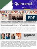 Boletin 21 de La Embajada de Colombia en Ecuador