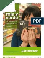 Greenpeace Guia Roja Verde Alimentos Transgénicos. Ago 2009