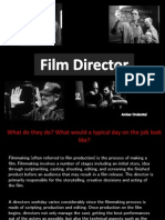 film directing presentation