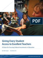 Giving Every Student Access to Excellent Teachers