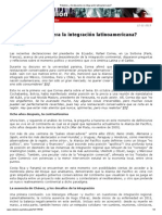 Karg, J.M. ¿Se desacelera la integración latinoamericana, 12-11-13
