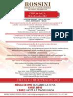 Fin de Año 2013-2014 Restaurant Rossini Barcelona (español)