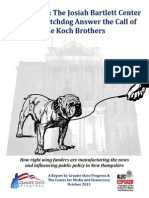 NH - Bad Bartlett - The Josiah Bartlett Center and NH Watchdog Answer the Call of the Koch Brothers