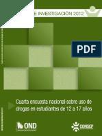 4ª encuesta_nacional_sobre_uso_de_drogas_en_estudiantes_de_12_a_17_anos CONSEP 2012 COMPLETO