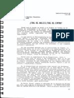 Sánchez González, Pedro.-. ¿Final de análisis, final del síntoma.