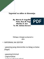 Impormal na Sektor ng Ekonomiya.pptx