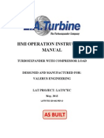Turboexpansor. Manual de Operacion HMI