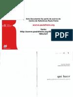 Freire Que Hacer Teoria y Practica en Educacion Popular