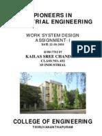 Pioneers in Industrial Engineering