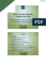 アジア開発銀行駐日代表事務所セミナー「東アジアと気候変動—影響と適応の経済分析」資料