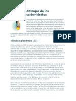Altibajos de Los Carbohidratos