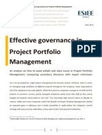 Effective governance in Project Portfolio Management