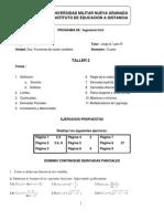 Taller Unidad Dos CalculoVectorial 2013-JL-B
