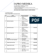 Tabel Daftar Harga Kaki Palsu dan Tangan Palsu JAPROMEDIKA