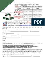 Brentwood Kid Wrestling Registration Form