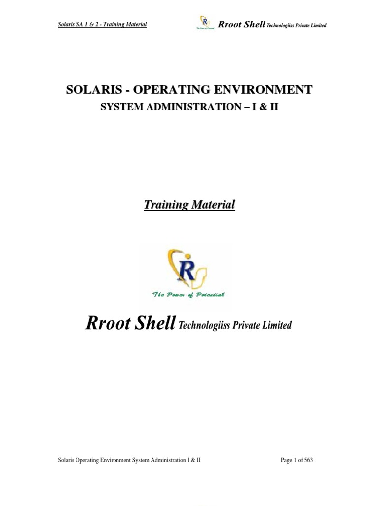 Root Shell Sun Solaris Meterial | File Transfer Protocol | File System