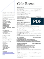 Cole Reese Resume July 2013