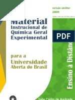 Material Instrucional de Quimica Geral Experimental Para a Universidade Aberta Do Brasil