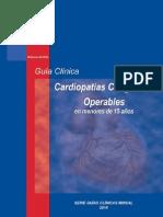Cardiopatías congénitas operables en menores de 15 años MINSAL 2010