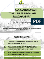 Perencanaan BSPS 2013