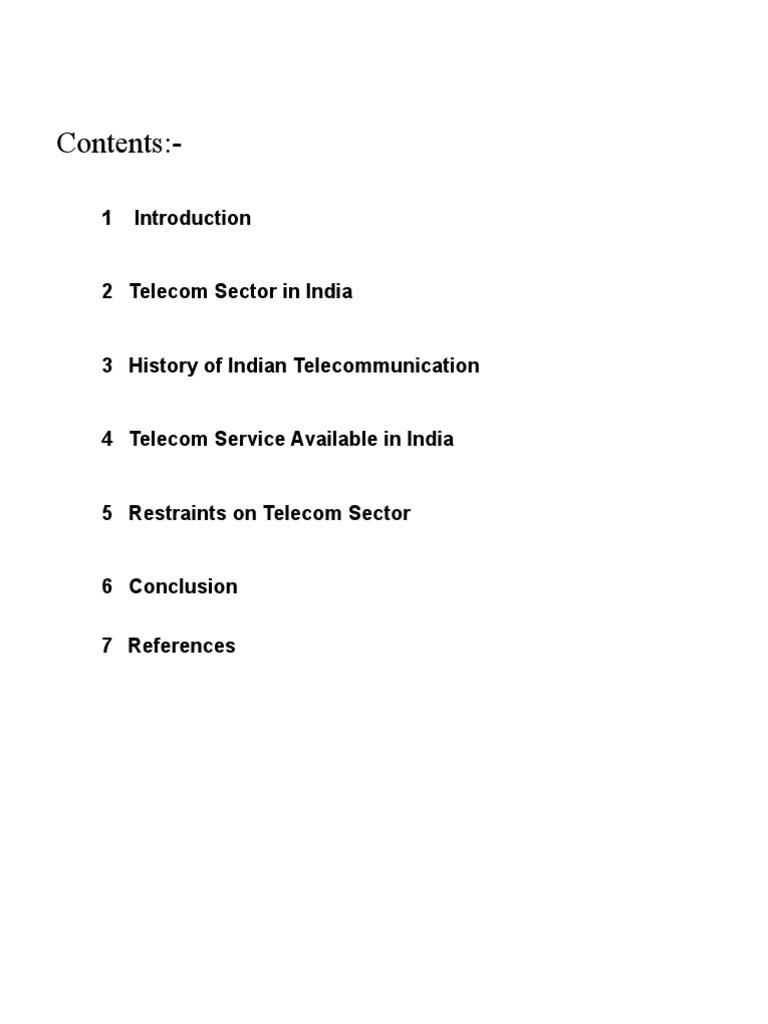 Dissertation report on telecommunication