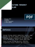 PP Hutang Piutang Menurut Ajaran Islam.pptx