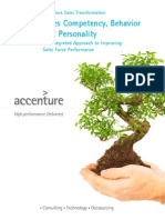 Accenture Sales Competency Behavior and Personality