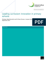 Leading Curriculum Innovation in Primary Schools