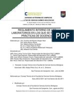 Fcqb Reglamento Laboratorios de Docencia