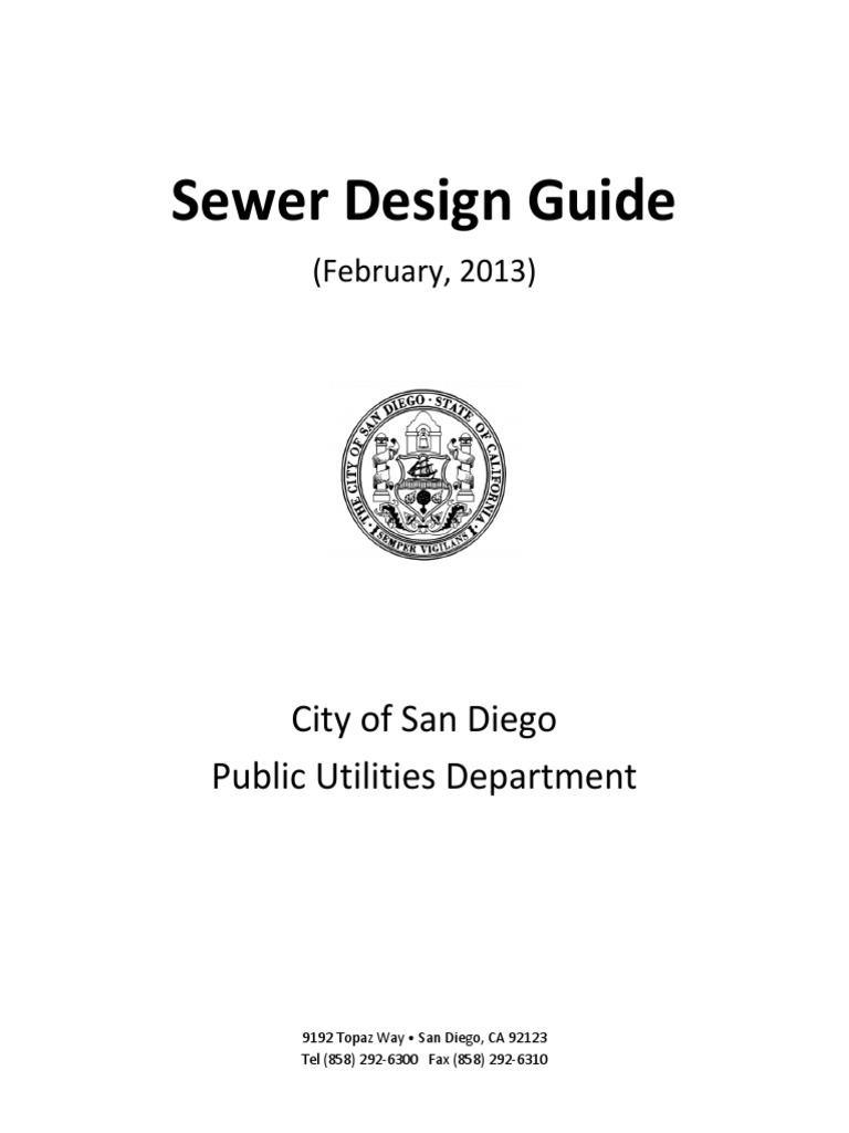 Sewer Design Guide: City of San Diego Public Utilities