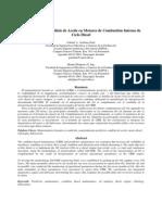 Implantación de análisis de aceite en motores de combustión interna de Ciclo Diesel