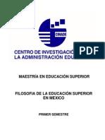 FilosofiadelaEducacionSuperioreMexico