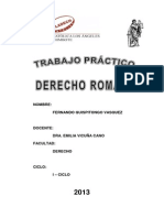 Trabajo de Derecho Romano